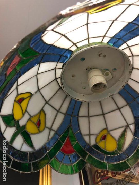 Vintage: PRECIOSA LAMPARA REALIZADA EN CRISTAL CON MEDIDAS 40X40 CM - VINTAGE - Foto 10 - 149991414