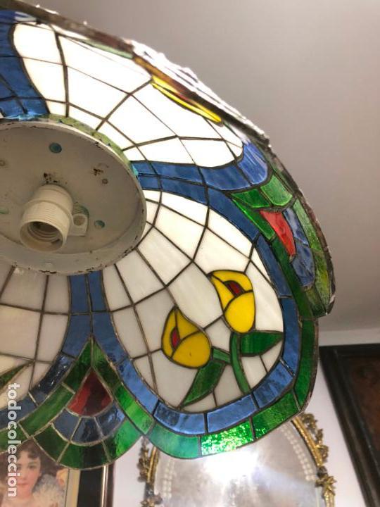Vintage: PRECIOSA LAMPARA REALIZADA EN CRISTAL CON MEDIDAS 40X40 CM - VINTAGE - Foto 11 - 149991414