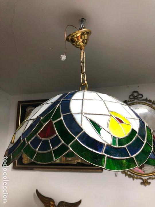 Vintage: PRECIOSA LAMPARA REALIZADA EN CRISTAL CON MEDIDAS 40X40 CM - VINTAGE - Foto 12 - 149991414