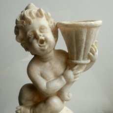 Vintage: CANDELABRO SUJETAVELA ANGEL QUERUBIN. Lote 150102626