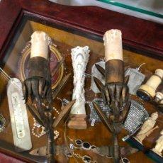 Vintage: PAREJA DE APLIQUES VINTAGE DE METAL EN FORMA DE ESPIGAS - MEDIDA 34 CM. Lote 150138354