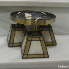 Vintage: LAMPARA DE TECHO TIPO TIFFANY. Lote 150199066