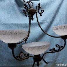 Vintage: LAMPARA FORJA CLÁSICA. Lote 150289538