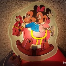 Vintage: LAMPARA VINTAGE INFANTIL CARTEL WALT DISNEY PLAFON MIRETE MADE SPAIN MICKEY MOUSE MINNIE. Lote 150569486