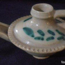 Vintage: CANDIL DE ACEITE, CERAMICA, LAMPARA DE ALADINO. Lote 150571314