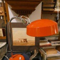 Vintage: FLEXO LAMPARA MARCA LUPELA, ROJO ANARANJADO. FUNCIONA 36 X 29 CMS.. Lote 151442230