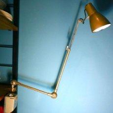 Vintage: LAMPARA TALLER FLEXO APLIQUE INDUSTRIAL AB DEPOSE VINTAGE ANTIGUO FRANCES JIELDE. Lote 152275350
