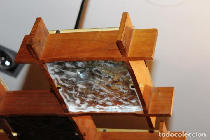 Vintage: Lámpara Nórdica de teca y cristal de murano.Estilo escandinavo. Años 50s. - Foto 21 - 152324518