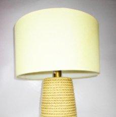 Vintage: LAMPARA CERAMICA MANISES CASES IMITANDO CESTO DE MIMBRE BOCA ABAJO IDEAL DECORACION. Lote 153117758