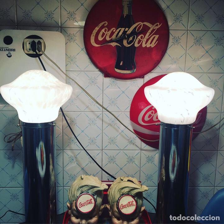Vintage: Pareja lámparas mesa murano design Mazzega - Foto 2 - 153175634