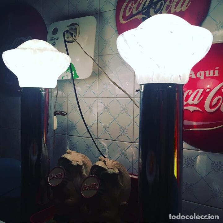 Vintage: Pareja lámparas mesa murano design Mazzega - Foto 3 - 153175634