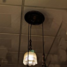 Vintage: LAMPARA ESTILO ANTIGUO DE 3 TULIPAS. Lote 155152978