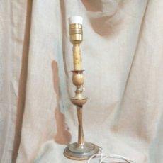 Vintage: LAMPARA VINTAGE ALOACA BAÑADA EN PLATA ,40 CM ALTO ,PARA RESTAURAR. Lote 155252581