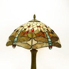 Vintage: BELLISIMA LAMPARA TIFFANY REPRO.1920 LIBELULAS AZUL-ÁMBAR 46X36 CM MARAVILLOSA!. Lote 93624882