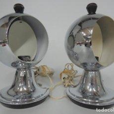 Vintage: VINTAGE LAMPARAS DE MESA TIPO ECLIPSE DISEÑO POP RETRO SPACE AGE . Lote 156491022