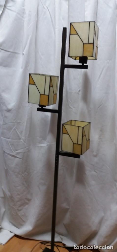 LÁMPARA PIE TIPO TIFFANY (Vintage - Lámparas, Apliques, Candelabros y Faroles)