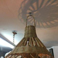 Vintage: LAMPARA DE CAÑA MIMBRE - MEDIDA 45X50 CM - VINTAGE. Lote 156870434