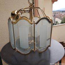 Vintage: BONITA LAMPARA DE TECHO ,DISEÑO OCTOGONAL ,DE 4 LUCES .RETROVINTAGE. Lote 228031795
