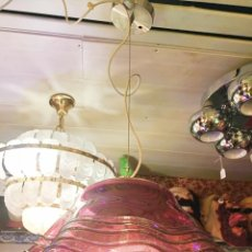 Vintage: LAMPARA SUSPENSION DE TECHO CAMPANA CRISTAL GORDIOLA . Lote 158622746