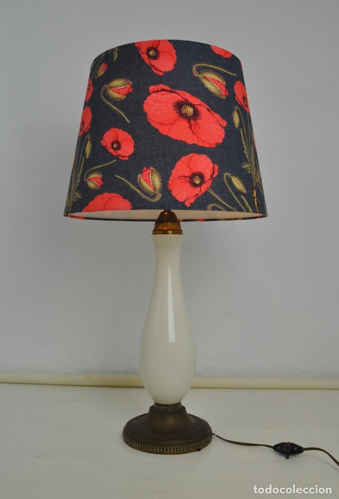 Vintage: Lámpara sobremesa pie de porcelana - Foto 2 - 158874566