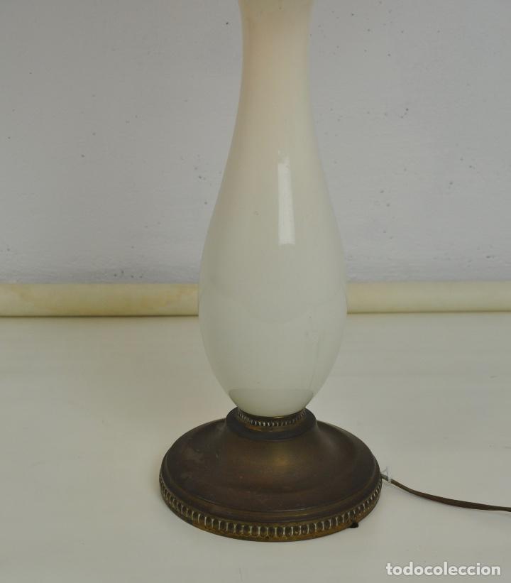 Vintage: Lámpara sobremesa pie de porcelana - Foto 3 - 158874566