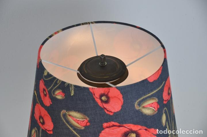 Vintage: Lámpara sobremesa pie de porcelana - Foto 6 - 158874566