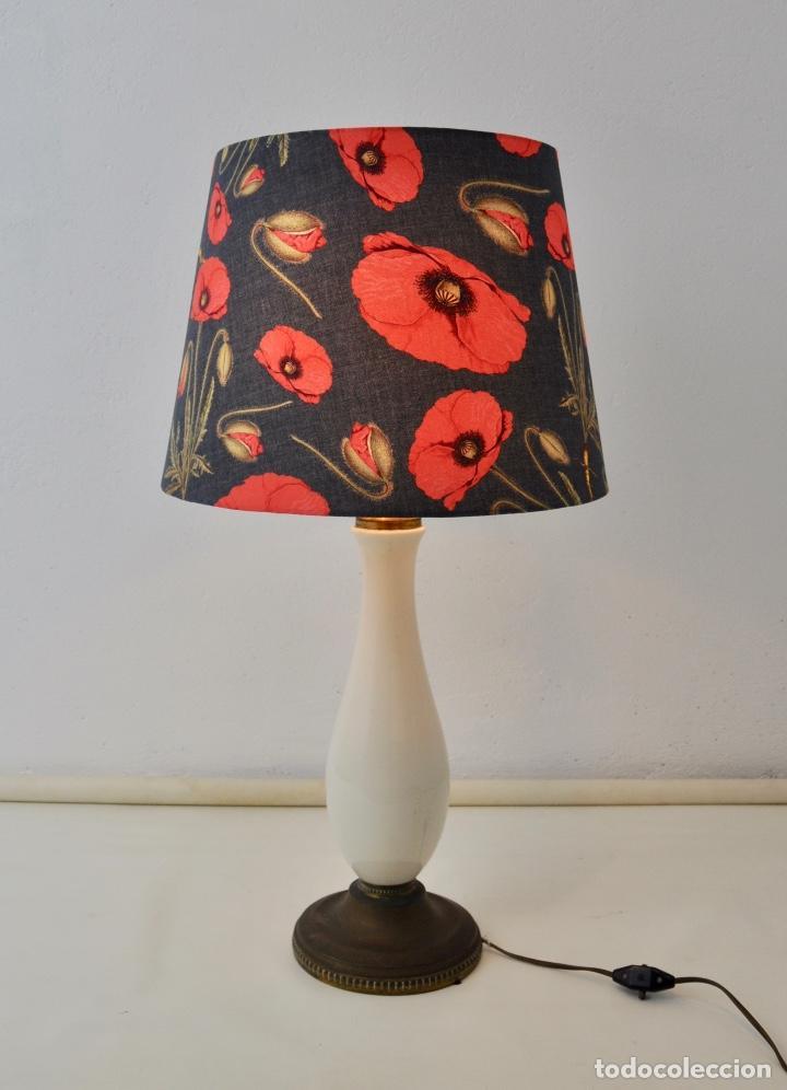 Vintage: Lámpara sobremesa pie de porcelana - Foto 8 - 158874566