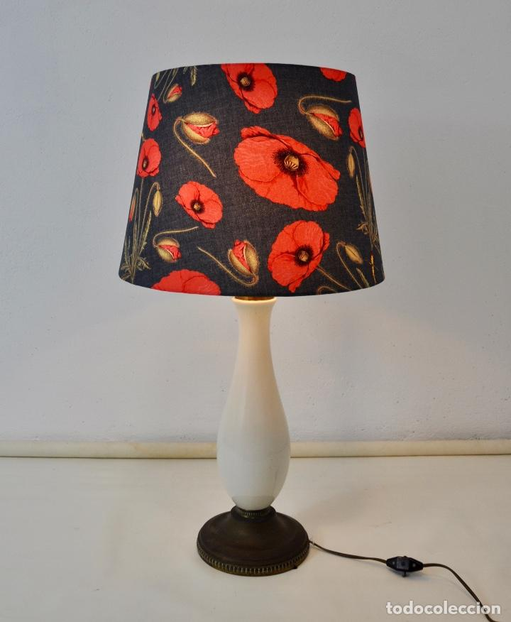Vintage: Lámpara sobremesa pie de porcelana - Foto 9 - 158874566