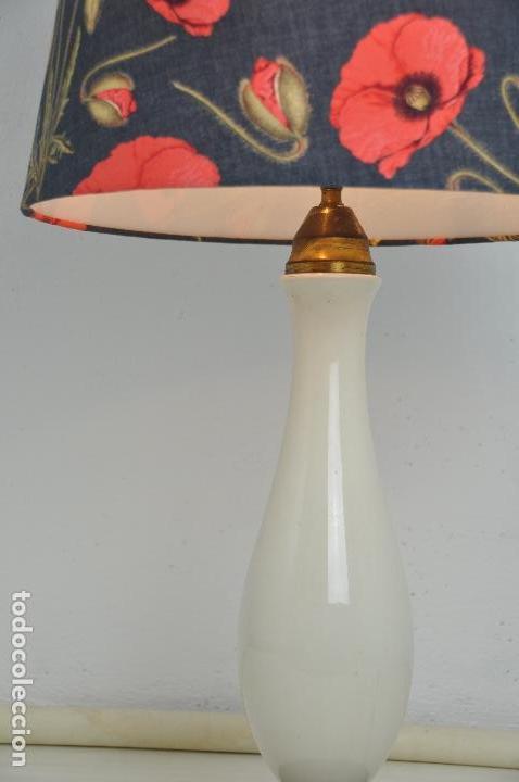 Vintage: Lámpara sobremesa pie de porcelana - Foto 5 - 158874566