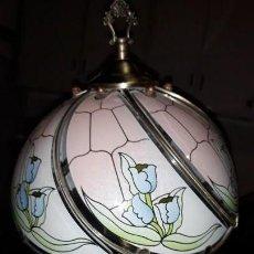 Vintage: LAMPARA DE CRISTAL DE SOBREMESA. Lote 159014658