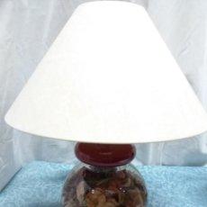 Vintage: LAMPARA SOBREMESA BASE CRISTAL. Lote 159055006