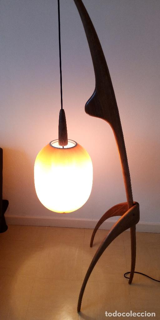 Vintage: lampara de diseño francés años 50 - Foto 2 - 159286522