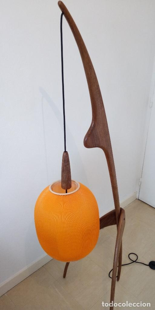 Vintage: lampara de diseño francés años 50 - Foto 7 - 159286522