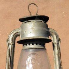 Vintage: LAMPARA FAROL O CANDIL DE ACEITE ALEMANA, HASAG FROWO Nº 551, VINTAGE DIBUJO LLAMA. Lote 159315510