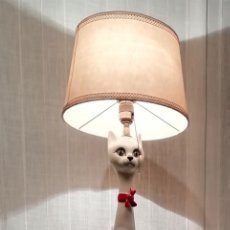 Vintage: LAMPARA DE CERAMICA DE MANISES. Lote 159847365