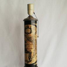 Vintage: RARA LAMPARA DE MESA MAPA MUNDI ANTIGUA FASE ORIGINAL SU RARO ENCHUFE BLANCO VINTAGE AÑOS 70. Lote 151716042