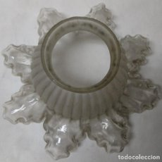 Vintage: TULIPA PARA LÁMPARA, VINTAGE, DE VIDRIO (CRISTAL). Lote 160054762