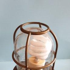 Vintage: LAMPARA DE BARCO EN BRONCE.. Lote 160232136