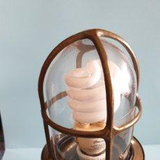 Vintage: LAMPARA DE BARCO EN BRONCE.. Lote 160232358