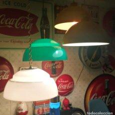Vintage: LAMPARA TECHO CAMPANA ACRILICA METALARTE DESIGN. Lote 160650174