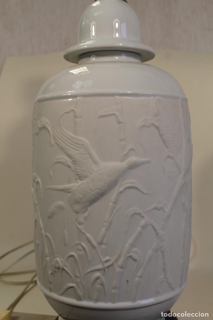 Vintage: lampara sobremesa en porcelana - Foto 2 - 160769626