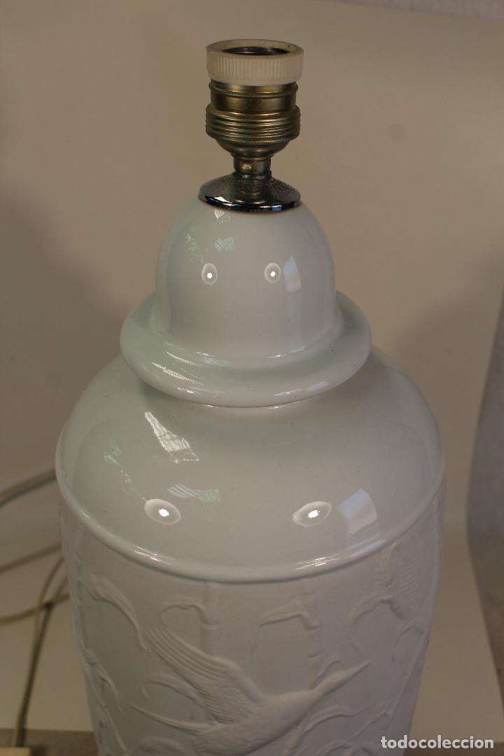 Vintage: lampara sobremesa en porcelana - Foto 6 - 160769626