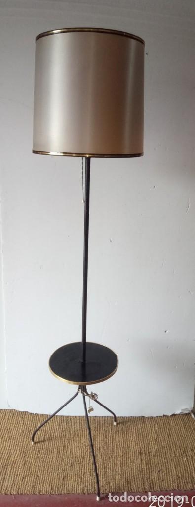 LAMPARA PIE VINTAGE AÑOS 70 (Vintage - Lámparas, Apliques, Candelabros y Faroles)