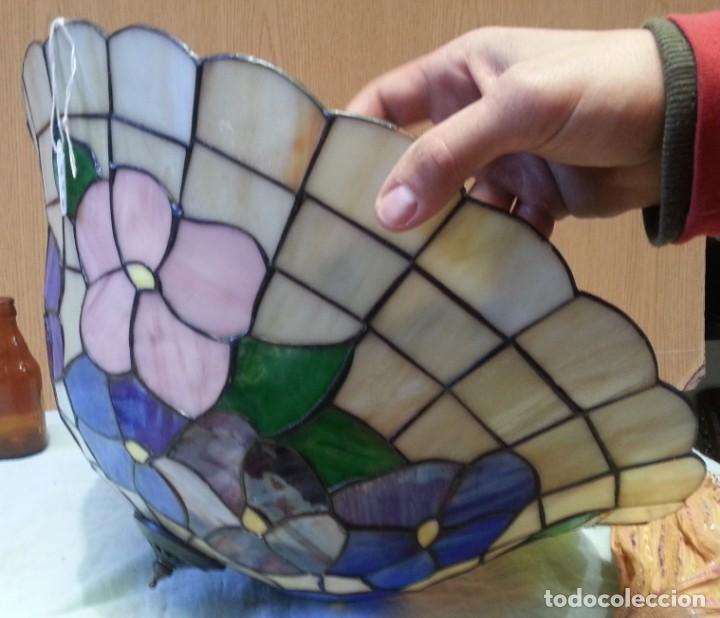 Vintage: Lámpara de techo estilo Tiffany. Años 90. Buen estado general. - Foto 6 - 161790954