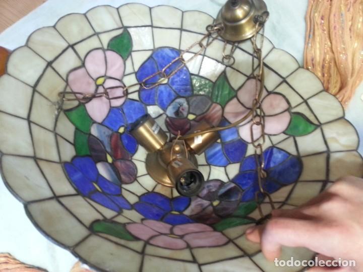 Vintage: Lámpara de techo estilo Tiffany. Años 90. Buen estado general. - Foto 8 - 161790954