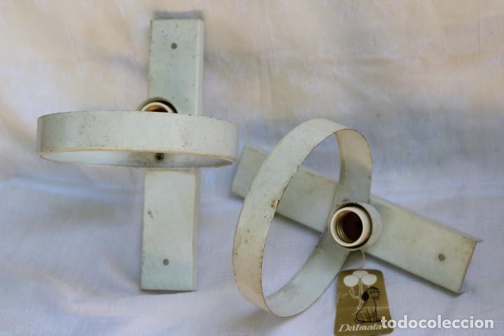 APLIQUES DISEÑO OVNI MID CENTURY VINTAGE DALMATA (Vintage - Lámparas, Apliques, Candelabros y Faroles)