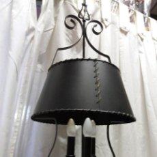 Vintage: LAMPARA FORJA RÚSTICA. Lote 162364442