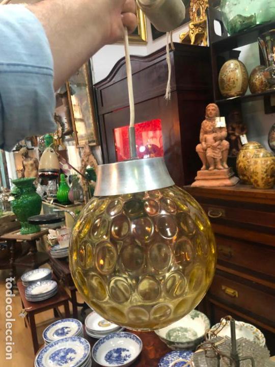 PRECIOSA LAMPARA CON GRAN TULIPA DE CRISTAL CON MEDIDA 24X22 CM - VINTAGE (Vintage - Lámparas, Apliques, Candelabros y Faroles)