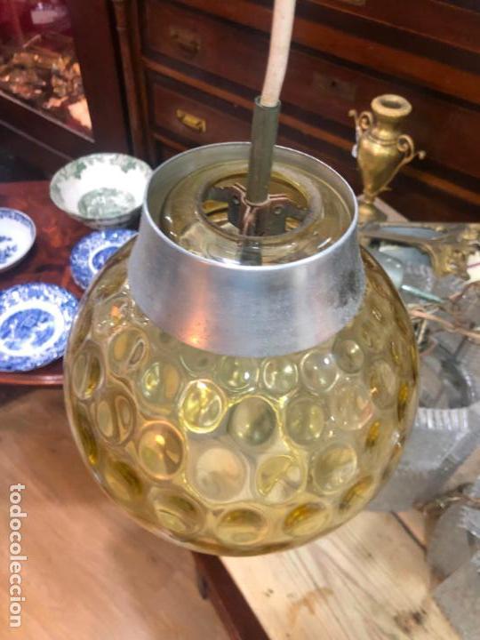 Vintage: PRECIOSA LAMPARA CON GRAN TULIPA DE CRISTAL CON MEDIDA 24X22 CM - VINTAGE - Foto 7 - 162668354