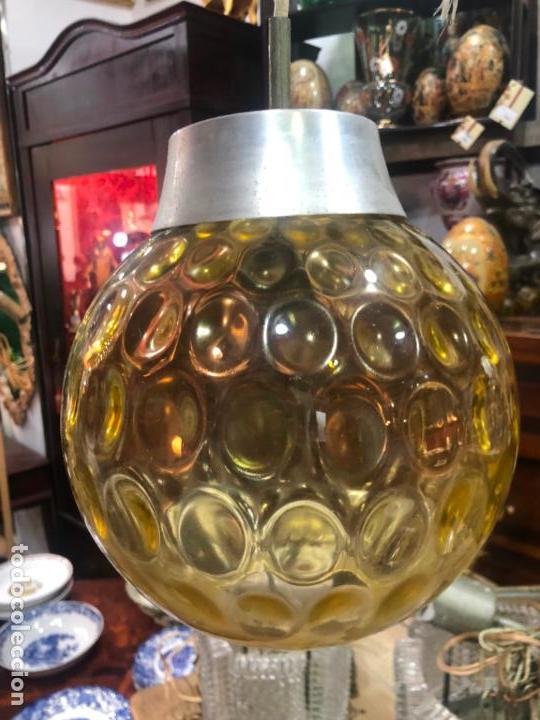 Vintage: PRECIOSA LAMPARA CON GRAN TULIPA DE CRISTAL CON MEDIDA 24X22 CM - VINTAGE - Foto 8 - 162668354